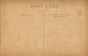 Antique Postcards – The Back Sides