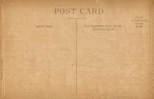 Antique Postcards – The Back Sides