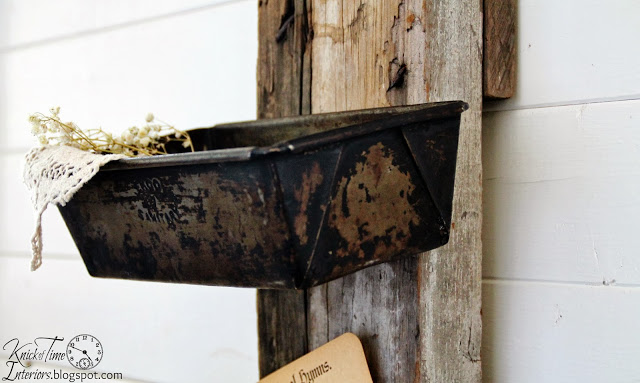 Repurposed Antique Barn Pulley Amp Loaf Pans Knick Of Time