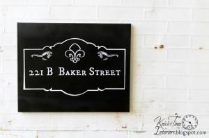 221B Baker Street Sign