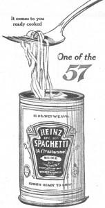 Antique Graphics Wednesday – 1912 Spaghetti Advertisement