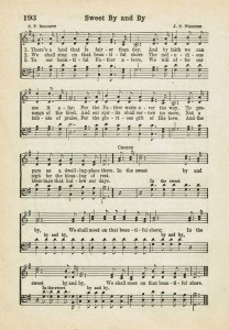 Sweet By and By ~ Printable Antique Hymn Page