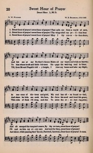 Printable Antique Hymn Page ~ Sweet Hour of Prayer