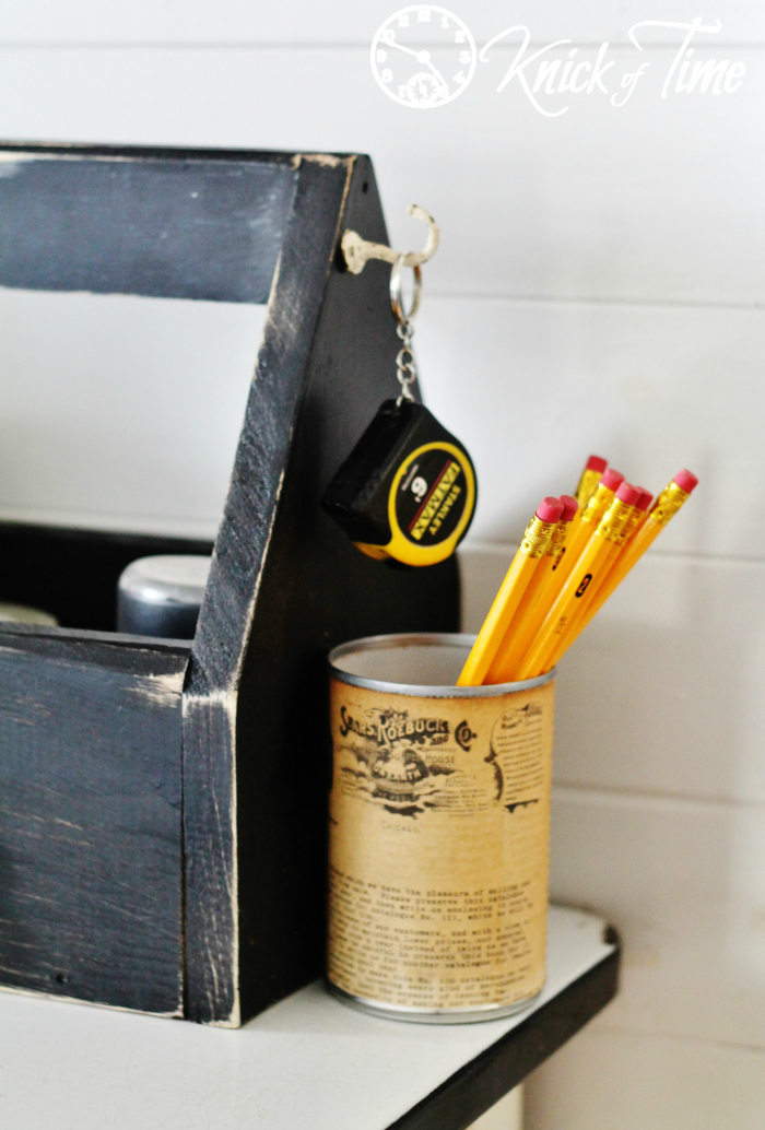 tin can pencil holder
