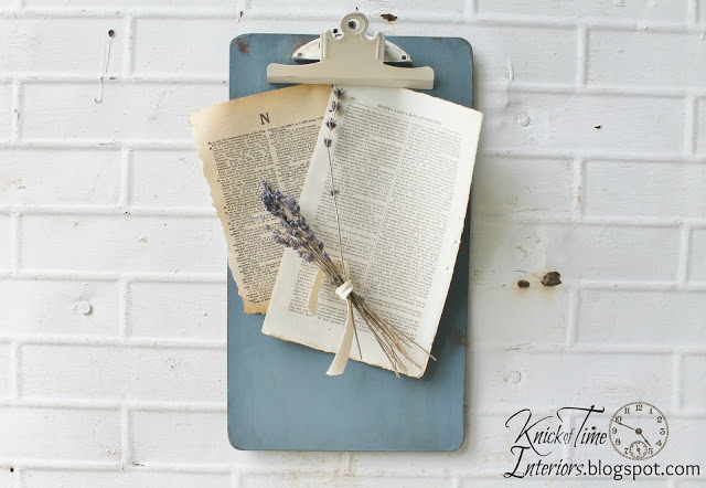 Clipboard display for ephemera and photos | www.knickoftime.net