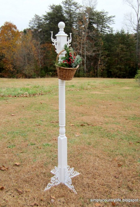 DIY coat tree repurposed post