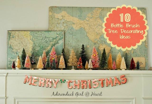 bottle brush trees Christmas decor