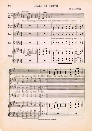 Peace on Earth Printable Antique Christmas Sheet Music from Knick of Time | www/knickoftime.net