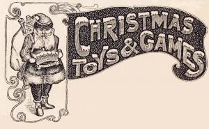Antique Christmas Graphic Advertisement