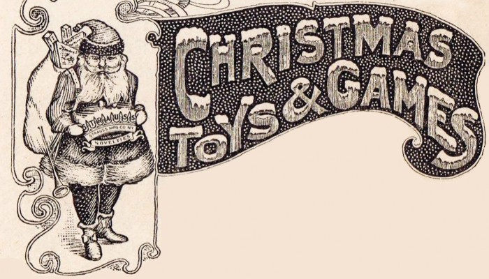 Antique Christmas Graphic Advertisement