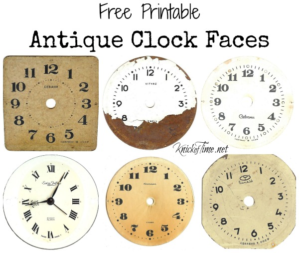 Antique Clock Face Graphics