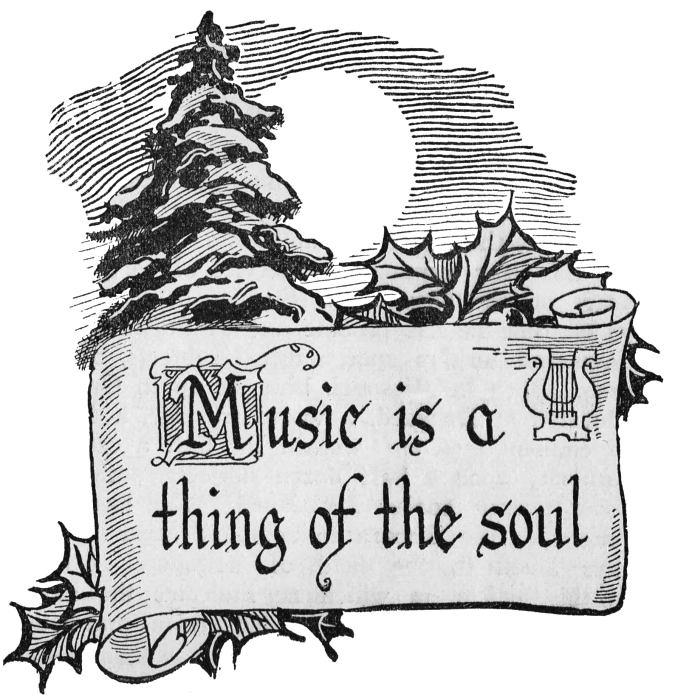 antique scroll graphic music copy - Black Christmas Music