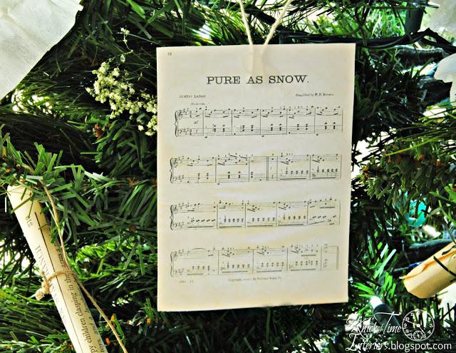 Antique Sheet Music Christmas Ornament via Knick of Time