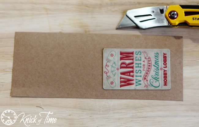 Brown Paper Package Gift Card Holder instructions