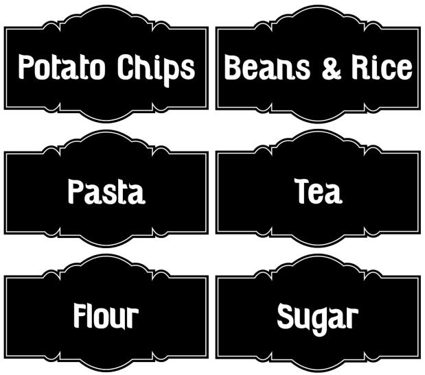 Chalkboard Canister Labels