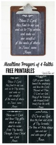 Saying Grace … 4 Chalkboard Art Mealtime Prayer Printables