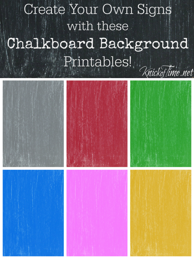 chalkboard printable backgrounds and tutorial to make your
