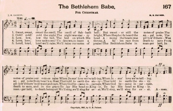 Christmas Music Page Hymn The Bethlehem Babe][