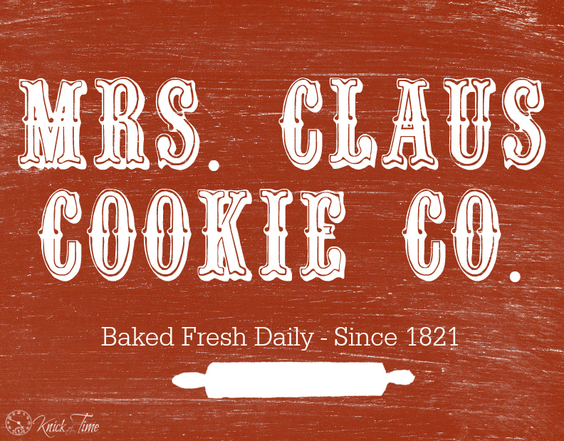 Christmas Chalkboard Sign - Mrs. Claus Cookie Company
