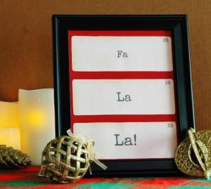 Christmas flash card printables