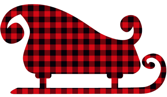 Chritmas Sleigh plaid gingham copy