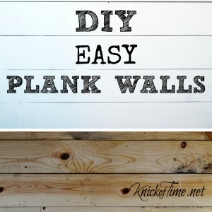 "How to Install a Wood Plank Wall and my ""Dear John"""