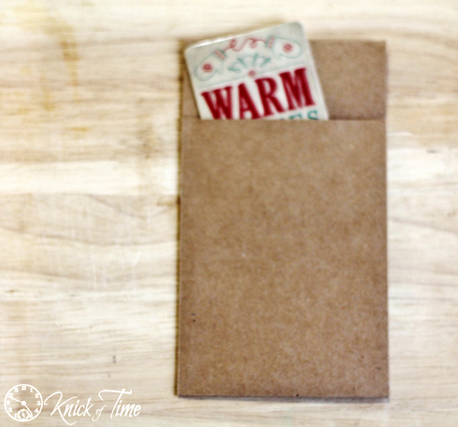 DIY brown paper packages gift card holder