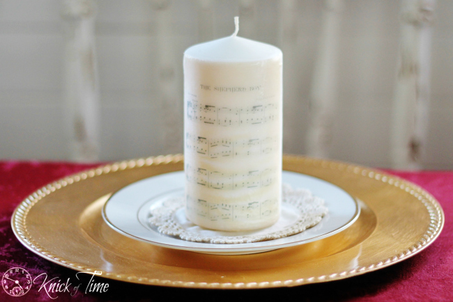 Image on Candle Tutorial