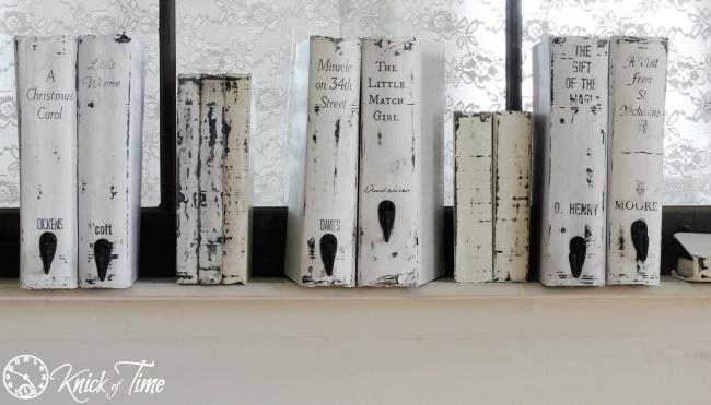 Upcycled Books Christmas Books Stocking Hanger Tutorial - KnickofTime.net