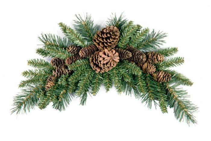 Pine Cone Crescent Swag