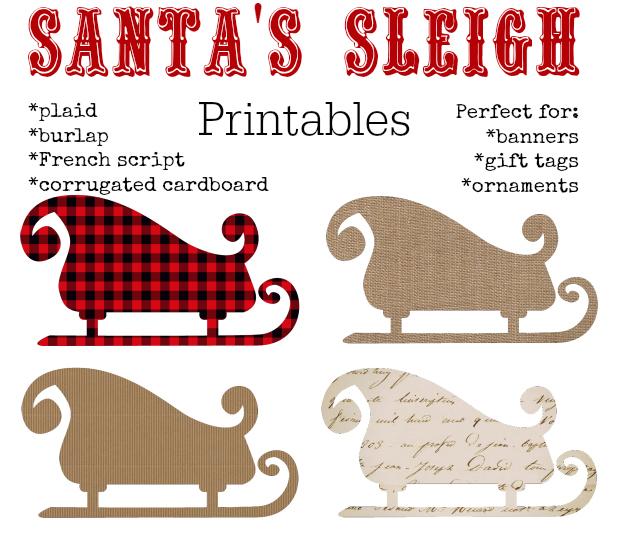 Christmas Printables Santa's Sleigh