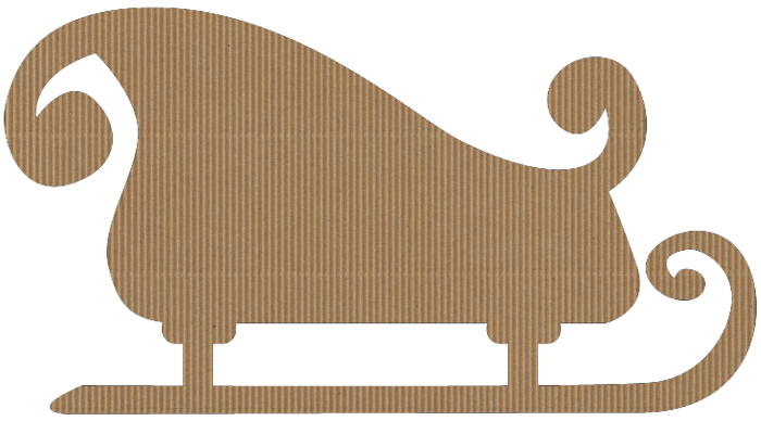 Santa's Sleigh corrugated cardboard