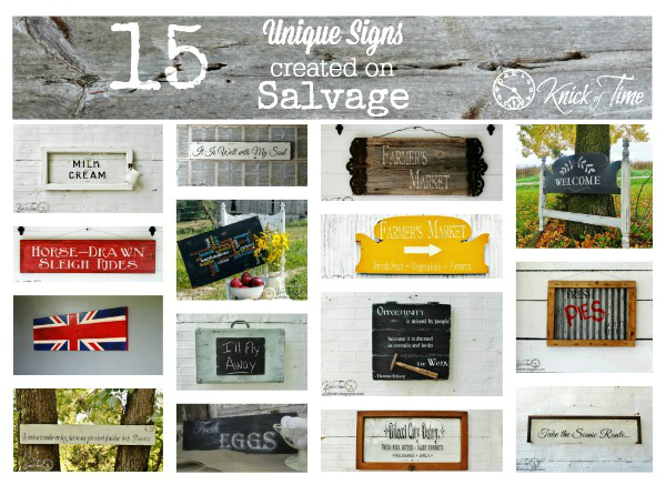 Signs on Salvaged Wood