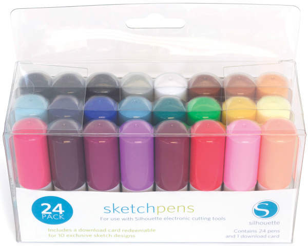 Silhouette sketch pens
