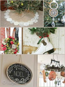 Vintage Inspiration Party # 170 – Vintage Style Christmas Home Decor!