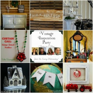 Vintage Inspiration Party # 168 – Vintage Christmas Decor GALORE!
