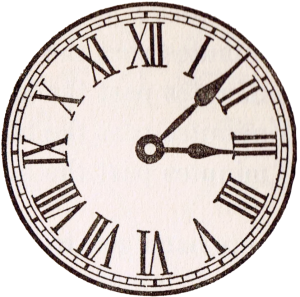 Antique Clock Face Graphics from School Book