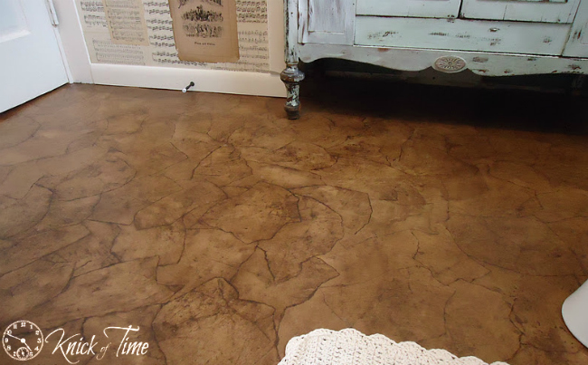 brown paper flooring