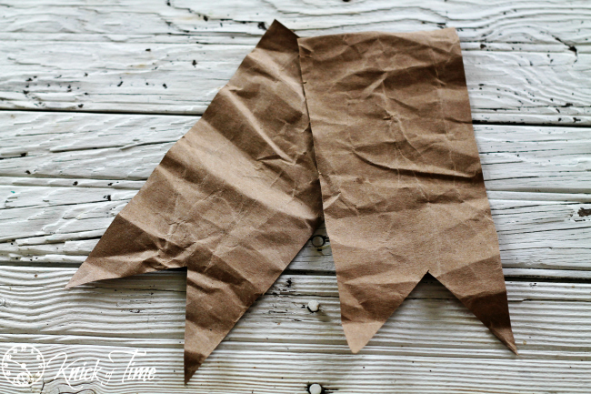 brown paper pennants