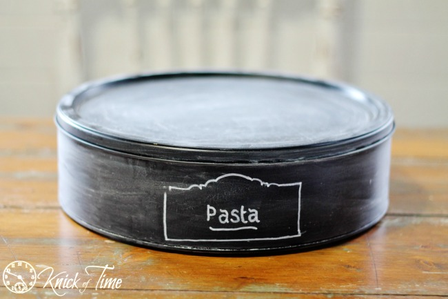 chalkboard labels kitchen canisters