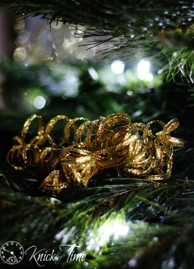 glitter gold gift ribbon