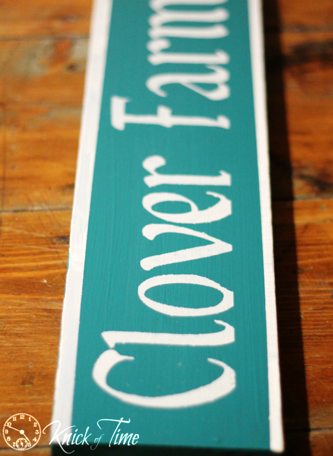 how to paint an antique sign
