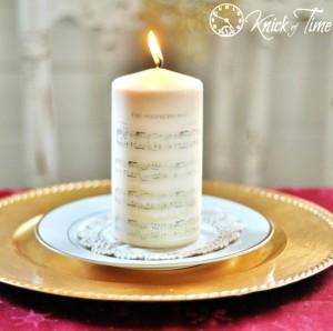 Christmas Sheet Music on Candle