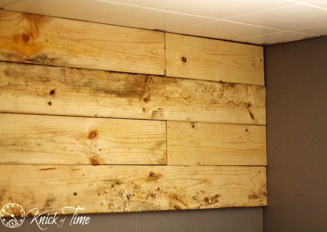 install a plank wall