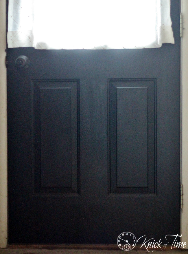 painted front door color black