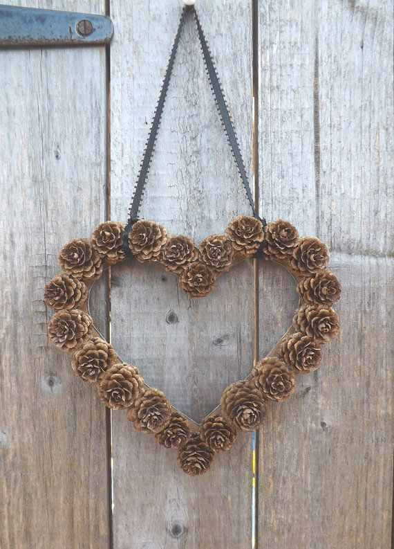 pine cone heart