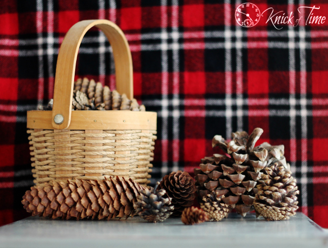 pine cones Christmas decor