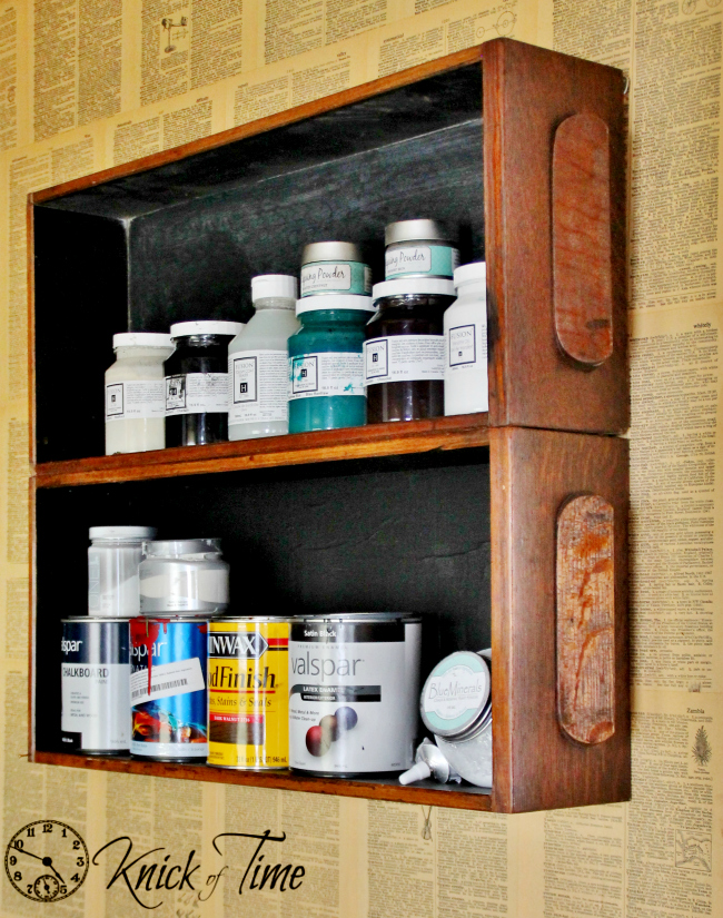 upcycled drawer shelves