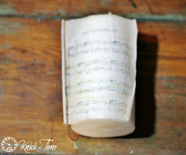 tissue paper image on candle