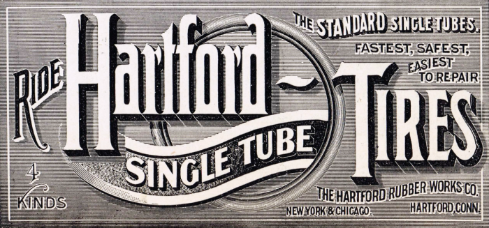 Antique Advertisement Hartford Tires